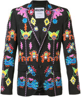 Moschino jungle appliqué blazer - men - Cotton/Polyamide - 48