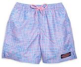 Vineyard Vines Toddler's, Little Boy's & Boy's Island Gingham Checked Drawstring Swim Shorts