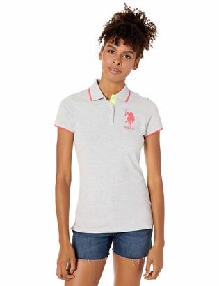 U.S. Polo Assn. Women's Triple Crown Short Sleeve Stretch Pique Polo Shirt