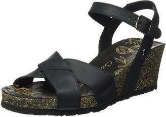 Panama Jack Women's Vika Basics Ankle Strap Sandals Black (Negro B1) 9 UK