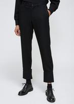 Yohji Yamamoto Black Bottom Cuffs Pant