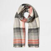 River Island Womens Orange check scarf
