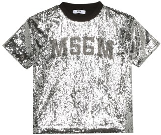 MSGM Kids Sequined T-shirt