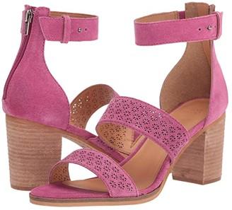 Frye Bryn Perf Sandal (Black Suede) High Heels