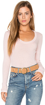 Stateside Scoop Neck Rib Tee in Peach. - size M (also in XS)