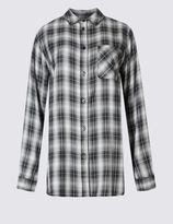 Marks and Spencer Collared Neck Checked Shirt
