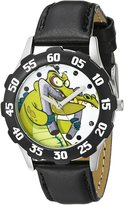 Disney Kids' W000446 Tween Cranky Stainless Steel Black Bezel Black Leather Strap Watch