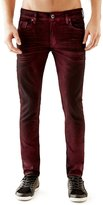 GUESS Skinny Jeans in Pattern Red Coated Wash