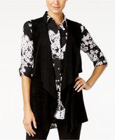 Calvin Klein Faux-Suede Mixed-Media Vest
