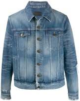Saint Laurent stonewashed effect denim jacket