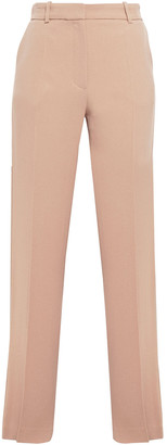 Vanessa Bruno Girel Satin-trimmed Crepe Straight-leg Pants