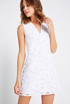 BCBGeneration Sleeveless Lace Shirt Dress - White