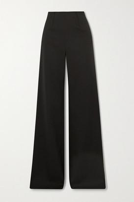 Altuzarra Luther Wool-blend Wide-leg Pants - Black
