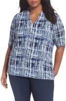 Sejour Plus Size Women's Shoulder Pleat Jersey Top