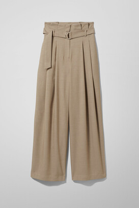 Weekday Payton Trousers - Beige