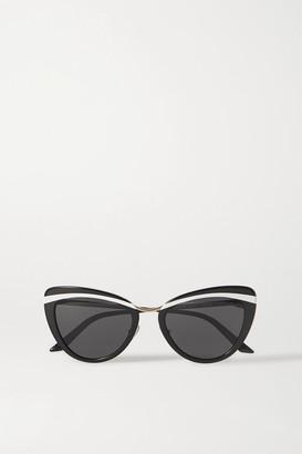 Prada Cinema Evolution Cat-eye Acetate And Gold-tone Sunglasses - Black
