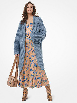 Michael Kors Hand-Knit Alpaca Wool and Cotton Cardigan