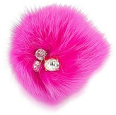 Trina Turk Rabbit Fur & Stone Pin