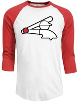 Rong T-shirts Men's 2016 Spring Training Chicago White Sox Logo 3/4 Sleeve Raglan T-Shirt