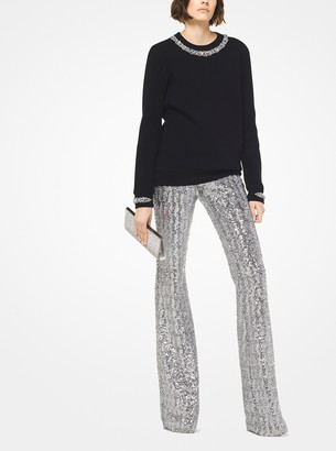Michael Kors Collection Sequined Flared Pants