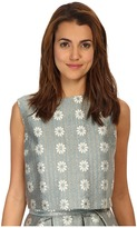 RED Valentino Daisies Lurex Jacquard Top