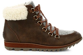 Sorel Harlow Shearling-Trimmed Hiking Boots