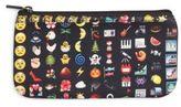 Terez Emoji-Print Pencil Case