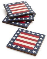 Sur La Table Stars and Stripes Coasters, Set of 4