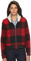 Woolrich Women's Buffalo Check Wool Blend Bomber Jacket