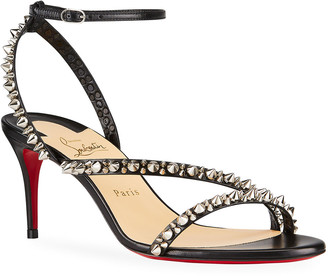 Christian Louboutin Mafaldina Spike Red Sole Stiletto Sandals
