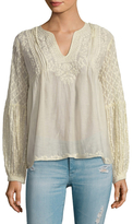 Love Sam Cotton Embroidered Blouse