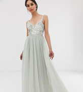 Needle & Thread sequin maxi dress in mint green