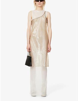 Pre-loved BYRONESQUE x Helmut Lang woven midi dress
