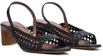 Souliers Martinez Palmera leather slingback sandals