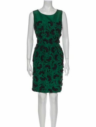 Oscar de la Renta 2013 Knee-Length Dress w/ Tags Green