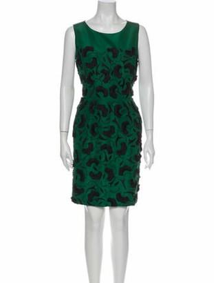 Oscar de la Renta 2013 Knee-Length Dress w/ Tags Green