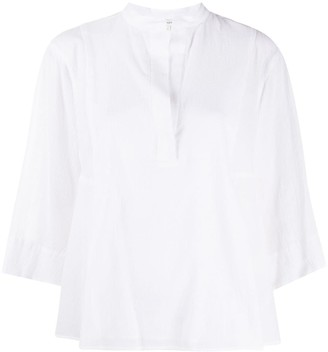 Vince V-neck panelled shirt
