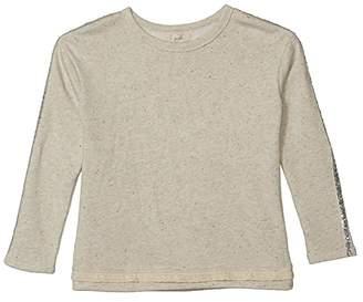 PEEK Moriah Marled French Terry Top w/ Neon Dot (Toddler/Little Kids/Big Kids) (Grey Heather) Girl's Clothing