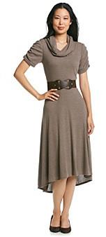 R & M Richards RM Richards R&M Richards® Cowlneck Belted Sweater Dress
