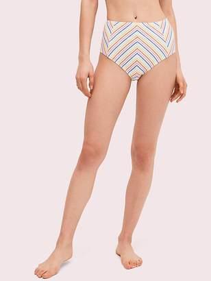 Kate Spade Beach Stripe High Waist Bikini Bottom