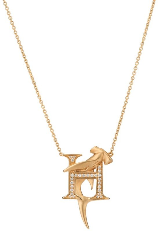 Stephen Webster Yellow Gold and Diamond Fish Tales H Necklace