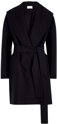 The Row Maddy midnight blue wool-blend coat