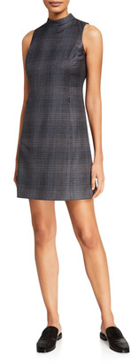 Theory Soft Plaid Wool Mod Dress