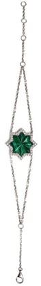 Narmeen White Gold, Diamond and Malachite Jahan Star Bracelet