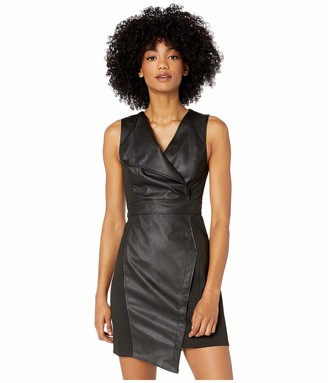 BCBGMAXAZRIA Women's Faux Leather Sheath Dress 6