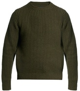 Vince Wool and cashmere waffle-knit sweater