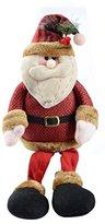 Saim Christmas Toy Gift for Kids Cute Sitting Santa Home Party Decor Ornament