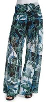 Just Cavalli Ikebana Printed Samurai Pants, Multi Colors