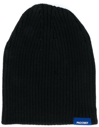 Rassvet Ribbed Knit Logo Embroidered Beanie