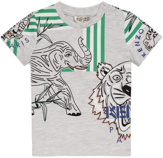 Kenzo Icon Tiger and Elephant Print T-Shirt